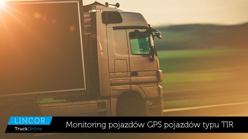 monitoring gps pojazdów typu tir